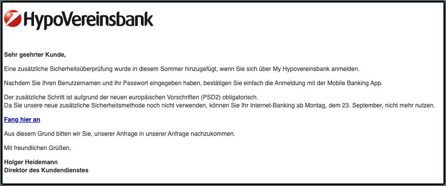 2019-09-20 Hypovereinsbank Spam-Mail KONTO ID