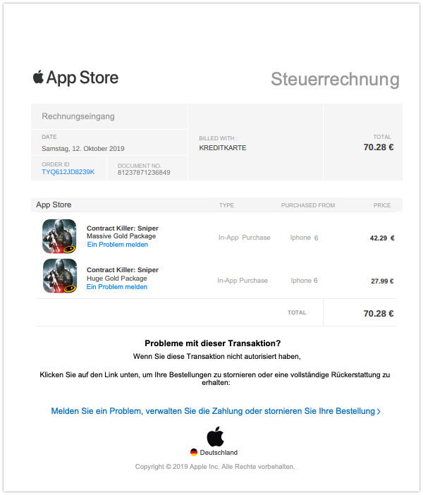 2019-10-13 Apple Phishing