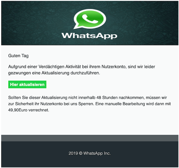 WhatsApp Phishing