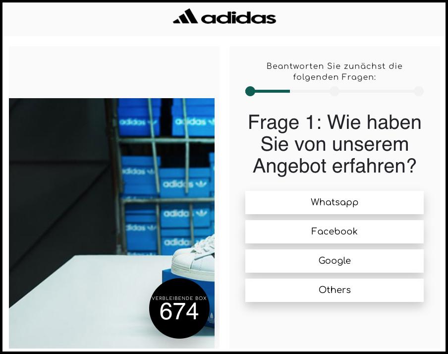 2020-03-04 Kettenbrief Adidas Schuhe