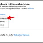 Amazon Monatsabrechnung PC
