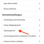 Amazon Monatsabrechnung aktivieren