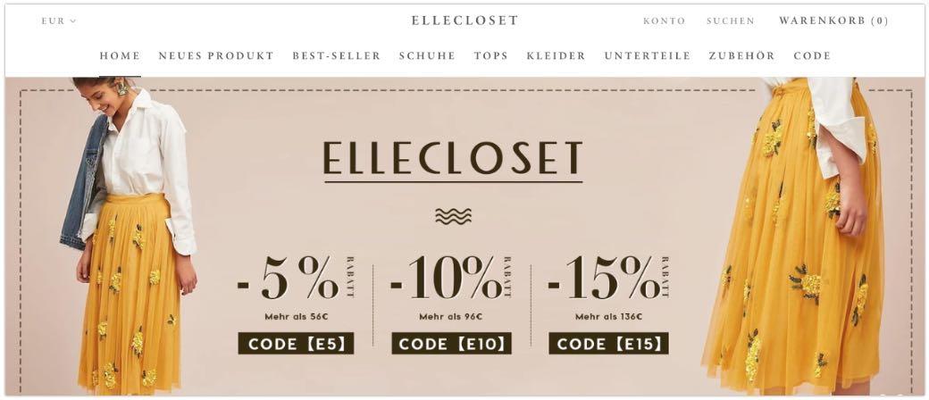 Onlineshop Damenmode ellecloset-com
