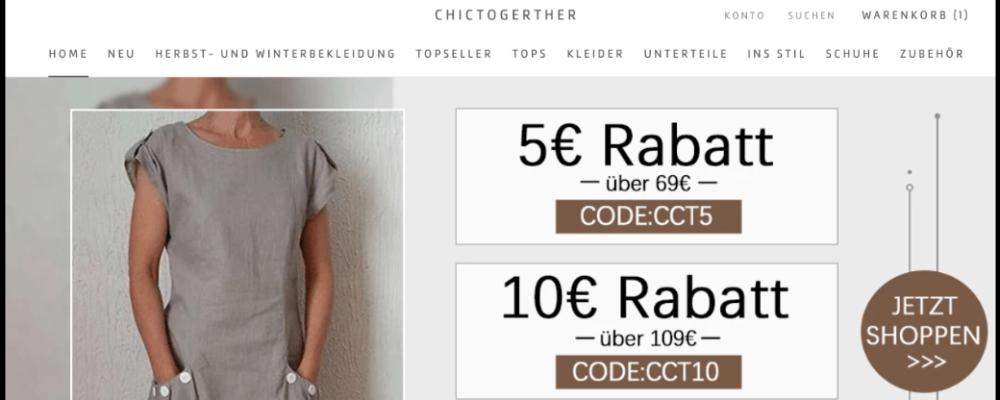 chictogerther.com: Fakten und Erfahrungen zum Onlineshop für Damenmode