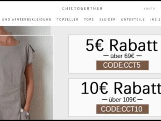 chictogerther Onlineshop Startseite