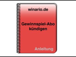 winario-de Anleitung Abo kündigen