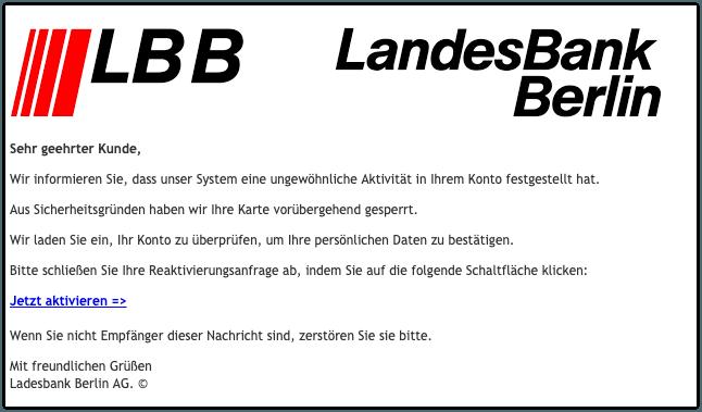 2019-09-04 Landesbank Berlin LBB Phishing-Mail Sie haben eine wichtige Nachricht