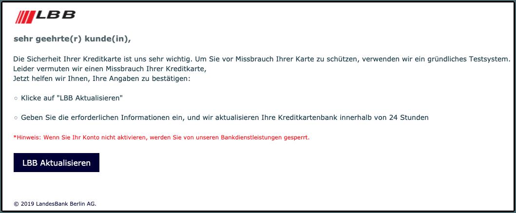 Landesbank berlin ag spam
