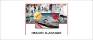2019-09-13 500 Euro Gutschein Deutsche Bahn per E-Mail