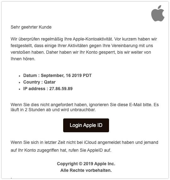 2019-09-16 Spam Apple