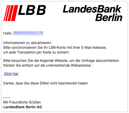 2019-09-17 Fake Mail Landesbank Berlin Spam