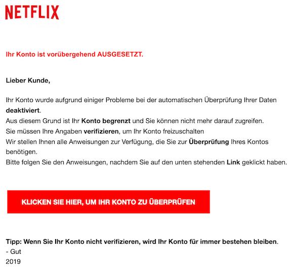 2019-09-21 Netflix Phishing