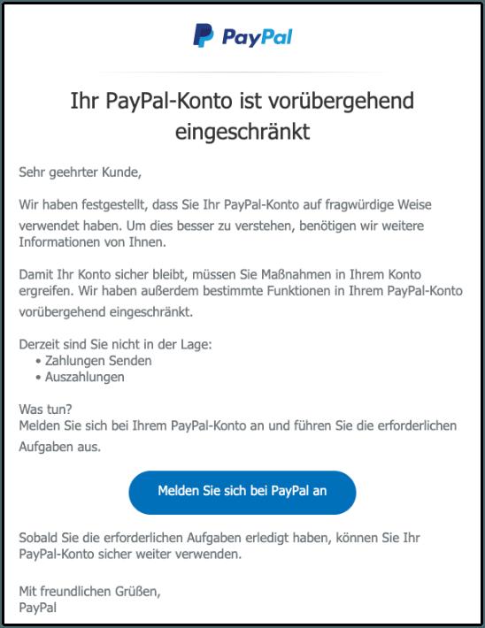 2019-09-23 PayPal Spam-Mail Wir brauchen Ihre Hilfe