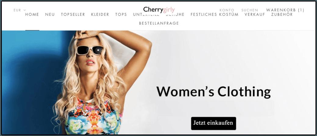 2019-09-24 Webshop Damenmode Fashion cherrygirly-com