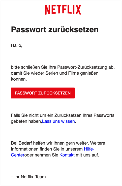 2019-09-25 Netflix Spam-Nachricht Abschluss Ihrer Passwort-Zuruecksetzung