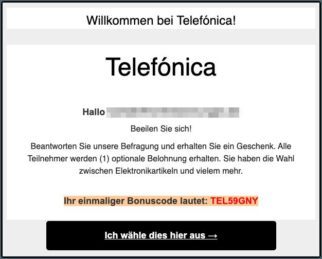 2019-09-26 Telefonica Samsung Spam-Mail Geschenk Abofalle