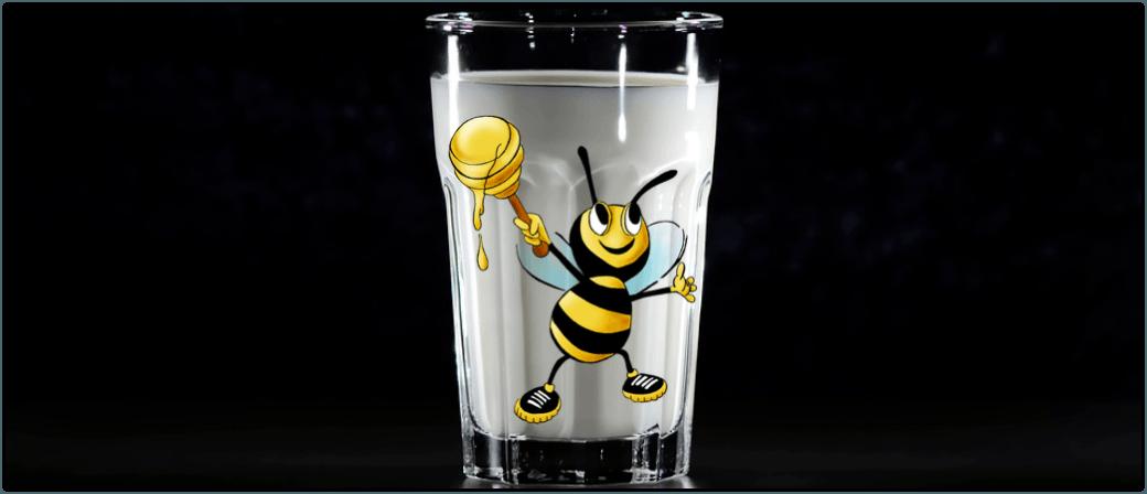 Milch mit Honig