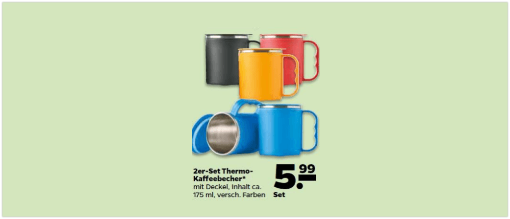 Rückruf Netto Thermobecher 2er Set