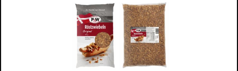 Orkla Foods Danmark ruft Röstzwiebeln von P&W zurück