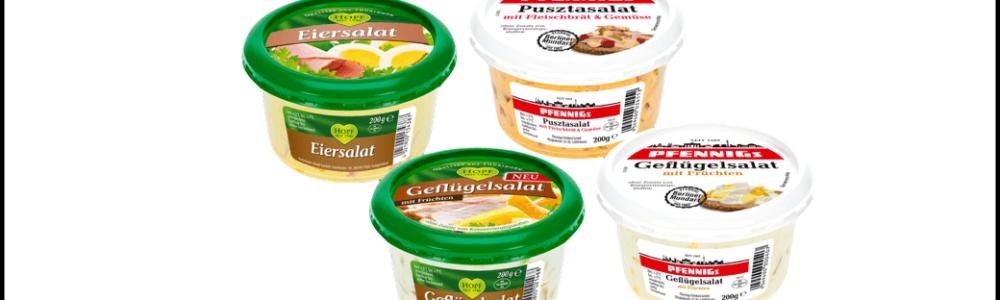 Homann Feinkost GmbH: Falsche Etikettierung bei Salaten von Hopf und Pfennigs – Rückruf