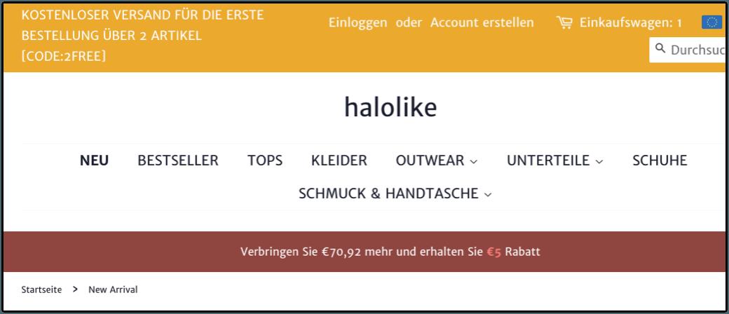 halolike Onlineshop