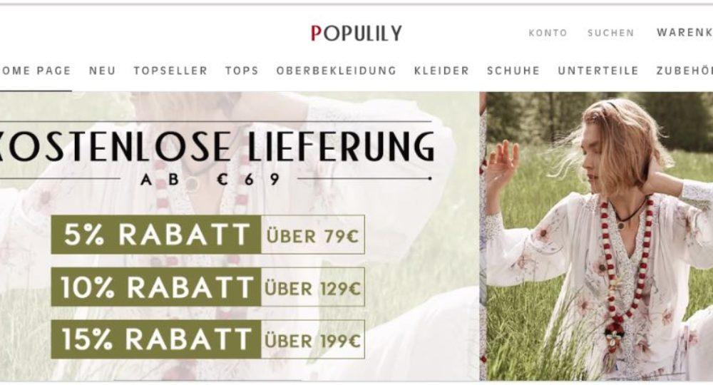 populily.com: Onlineshop für Damenmode getestet – Ihre Erfahrungen