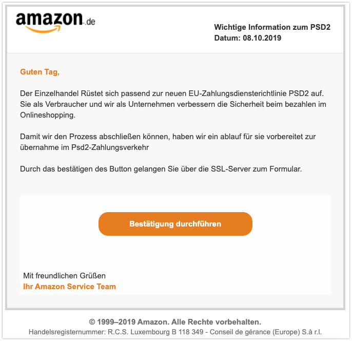 Amazon spam mail