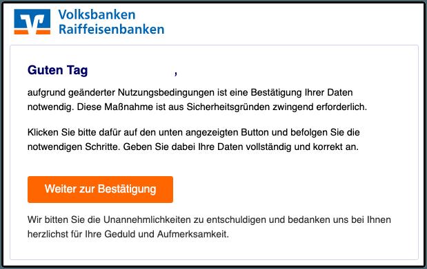 2019-10-04 Volksbank Fake-Mail Wichtige Mitteilung