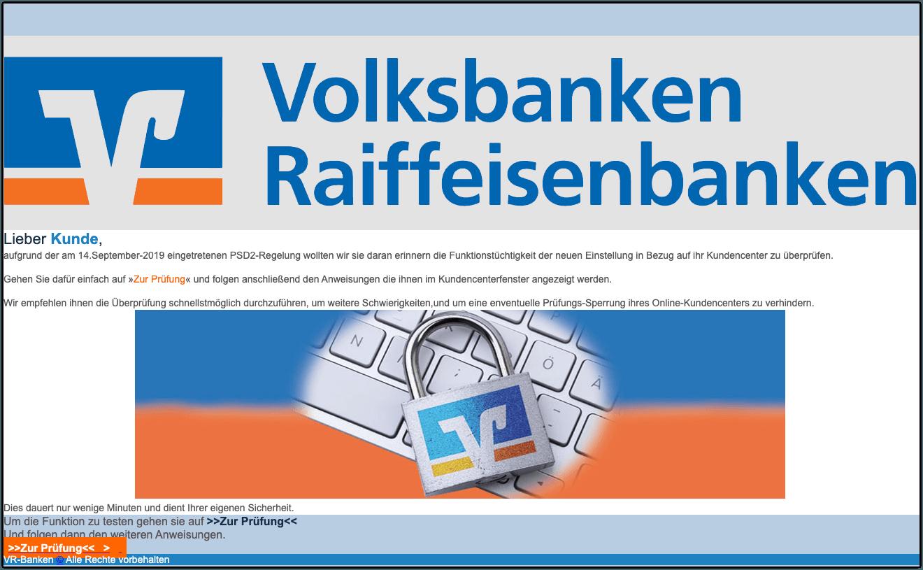 2019-10-11 Phishing Volksbanken