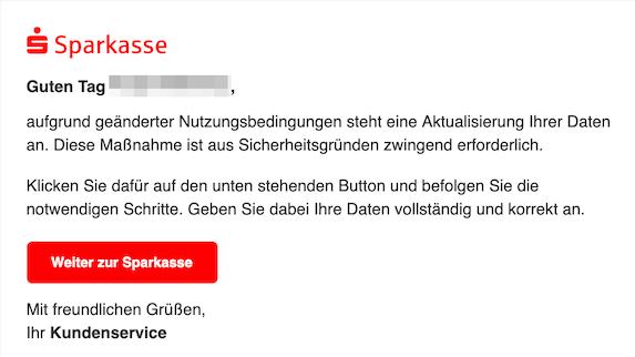 2019-10-13 Phishing Sparkasse