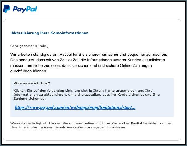 Paypal Konto Deaktiviert