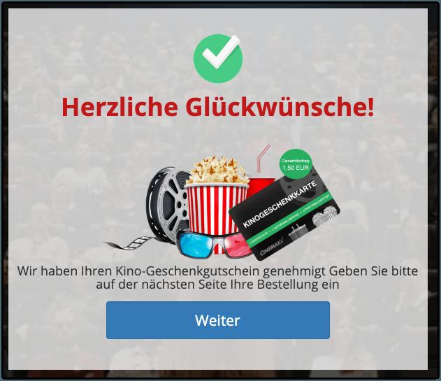 2019-10-18 Zusage Kino-Geschenkgutschein