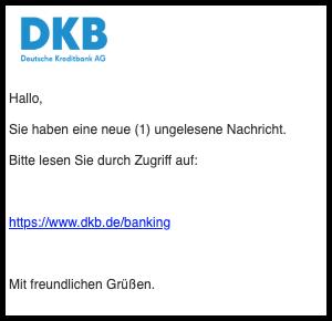 2019-10-24 DKB Phishing-Mail Spam Re-Erinnerung