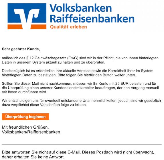 2019-10-27 Phishing Volksbank
