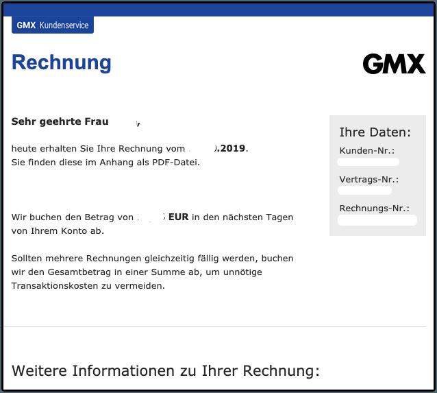 2019-10-30 GMX E-Mail GMX - Ihre Rechnung vom