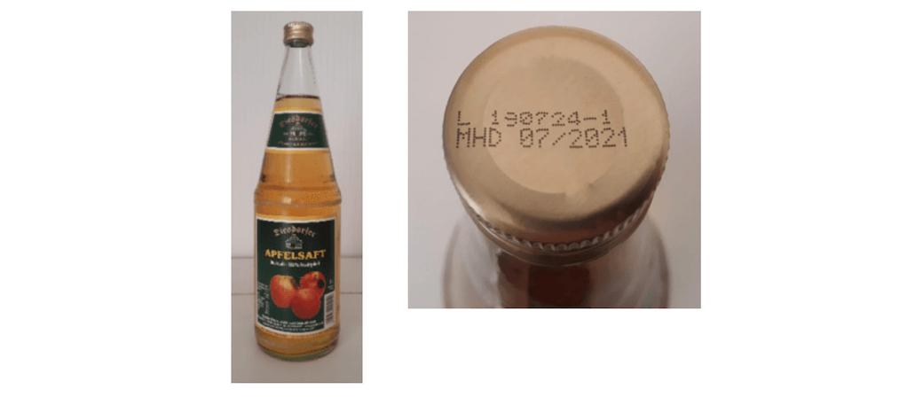 2019-10-30 Rückruf Apfelsaft