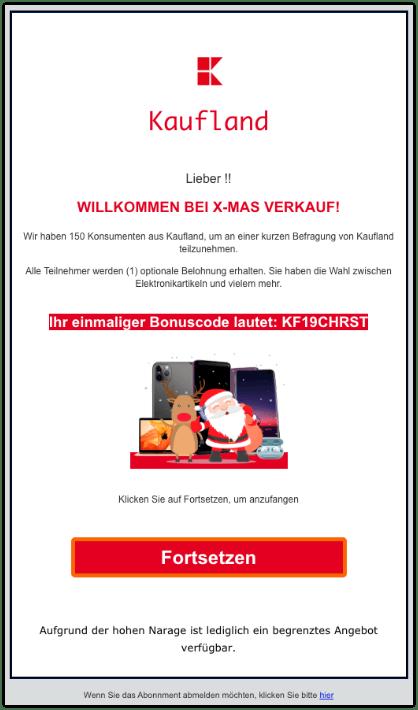 2019-12-16 Kaufland Fake-Mail Abofalle E-MAS Verkauf