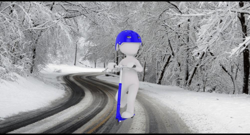 E-Scooter im Winter – Gibt es eine Winterreifen-Pflicht?