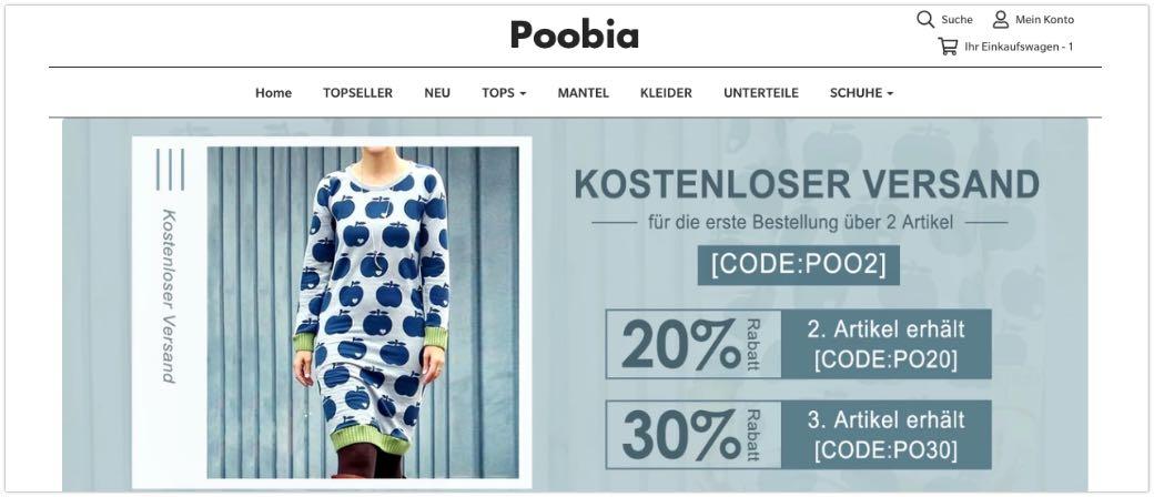 Poobia.com Onlineshop Damenmode