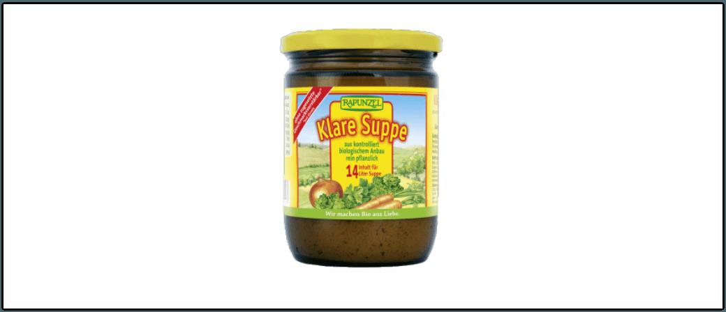 Rückruf Klare Suppe von Rapunzel