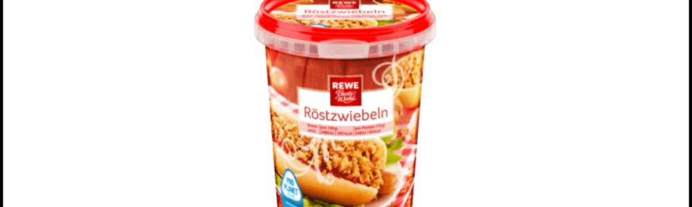 Rewe: Rückruf der Beste Wahl Röstzwiebeln – Gefahr durch Metallteile