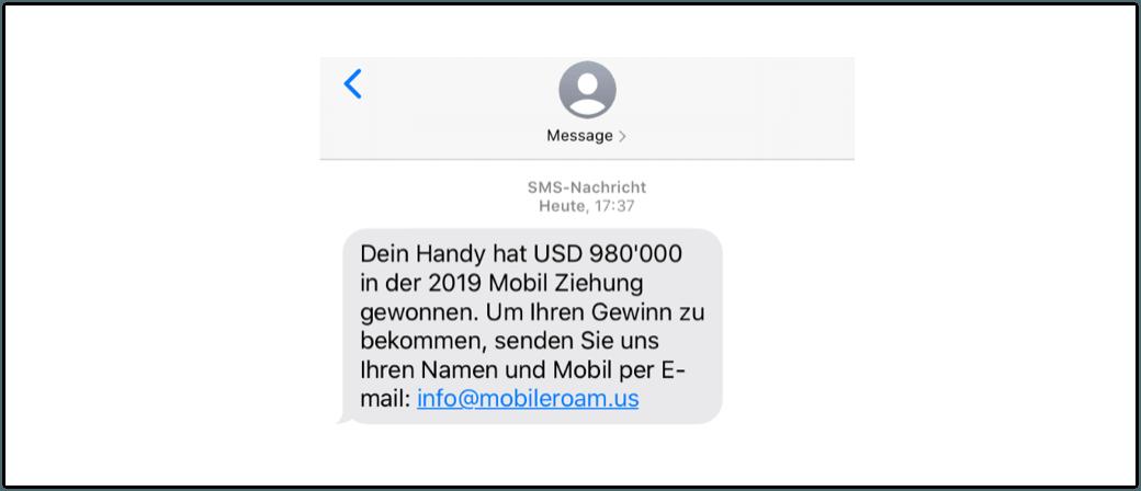 2019-11-01 Gewinn SMS 2019 Mobil Ziehung