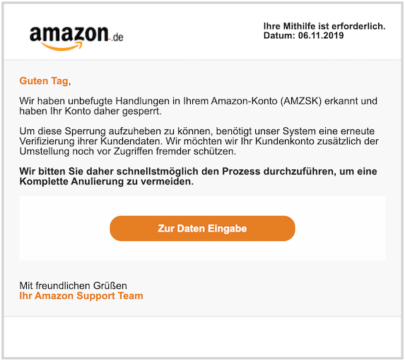 2019-11-07 Phishing Amazon