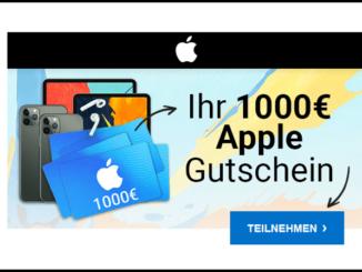 2019-11-08 E-Mail mit 1000 Euro Apple Gutschein Datensammler