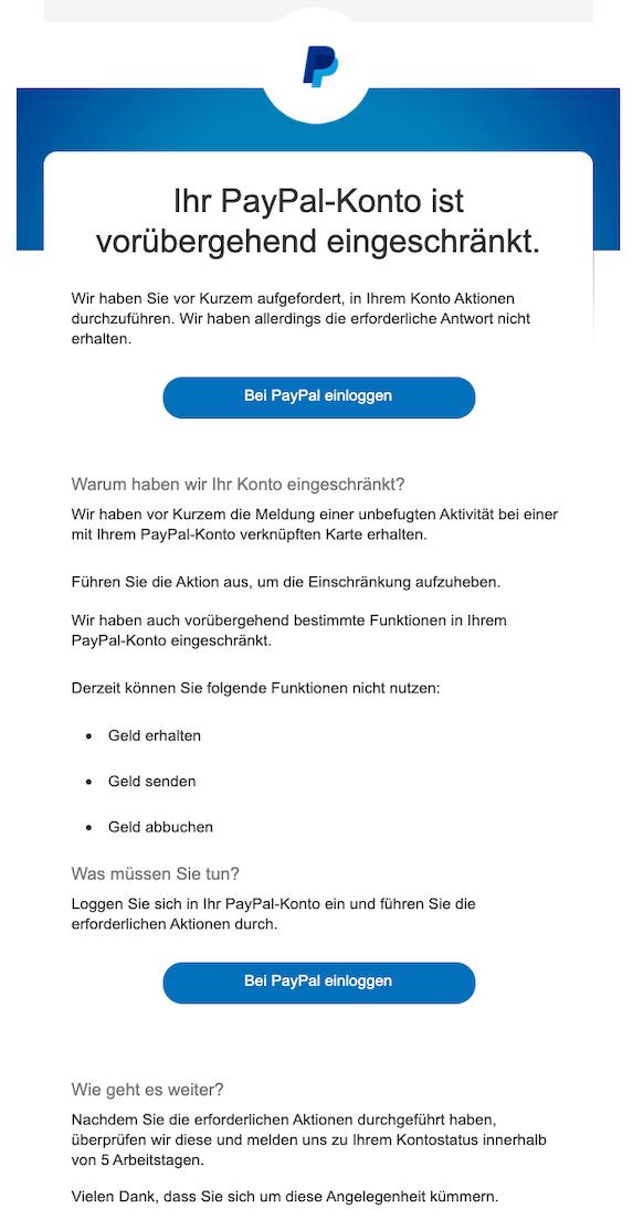 2019-11-10 Phishing PayPal