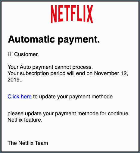 2019-11-11 Netflix Spam-Mail Reminder