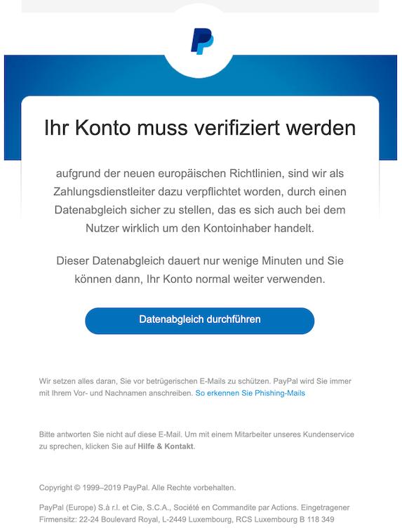 2019-11-20 Phishing PayPal