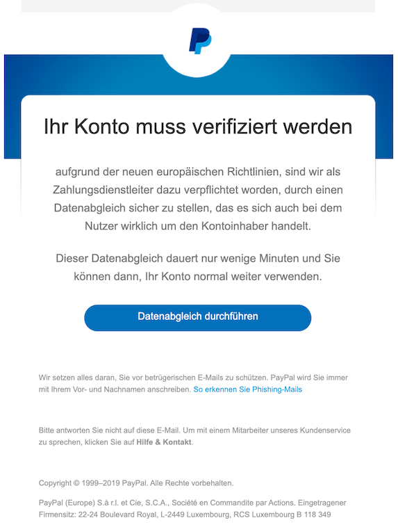 Paypal Konto Verifizieren Email