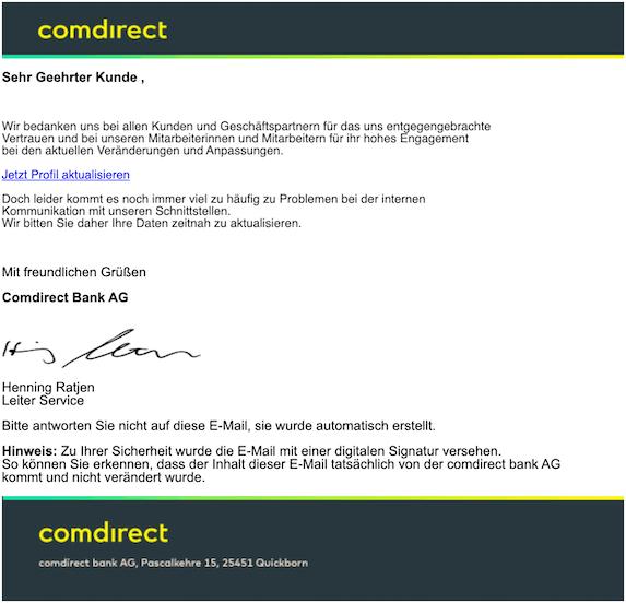 2019-11-24 Phishing Comdirect