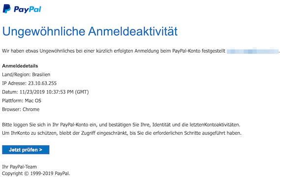 2019-11-25 Phishing PayPal